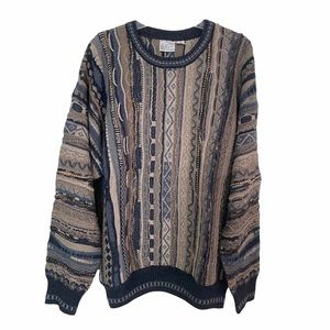 VTG Florence 3D Knit  Sweater Coogi Style Inspired Wool Blend